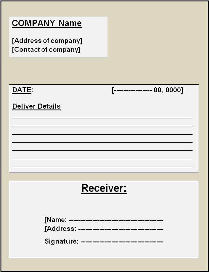 Free Invoice Receipt Template Word