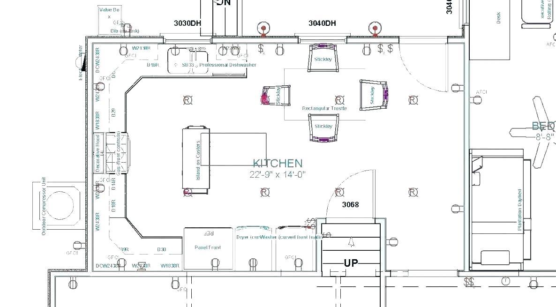 Free Kitchen Layout Template