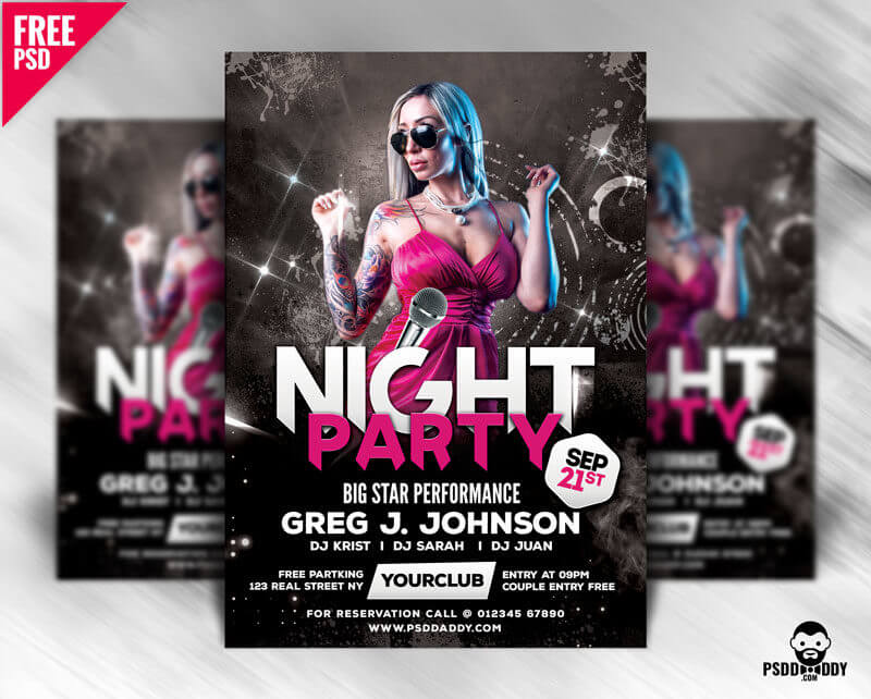 Free Party Flyers Templates