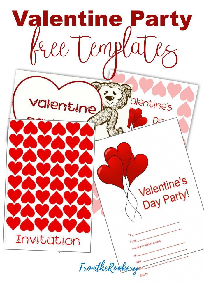 Free Printable Valentine Invitation Templates