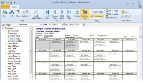 Free Scheduling Calendar Template