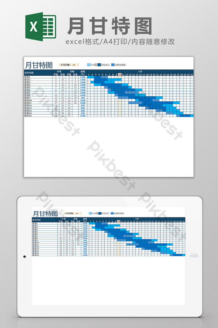 Free Simple Gantt Chart Excel Template Xls