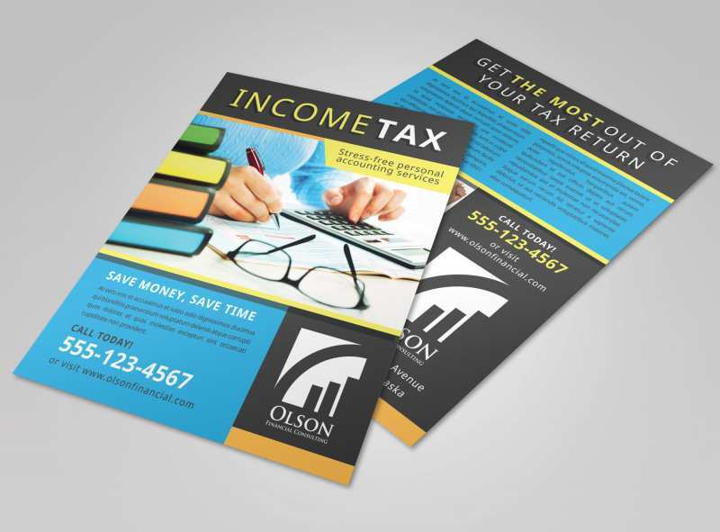 Free Tax Preparation Flyers Templates