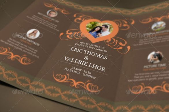 Free Tri Fold Wedding Invitation Templates Download