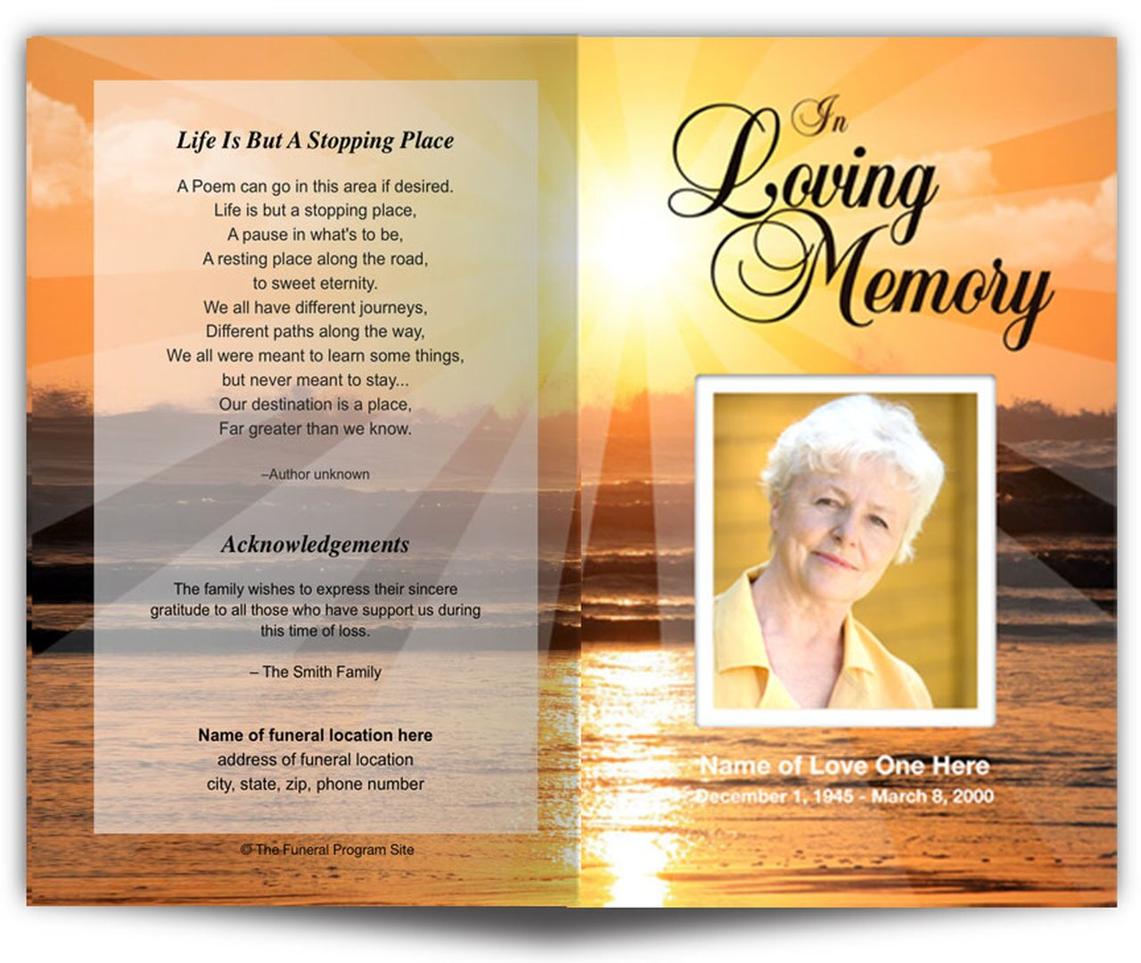 Funeral Program Funeral Letter Template