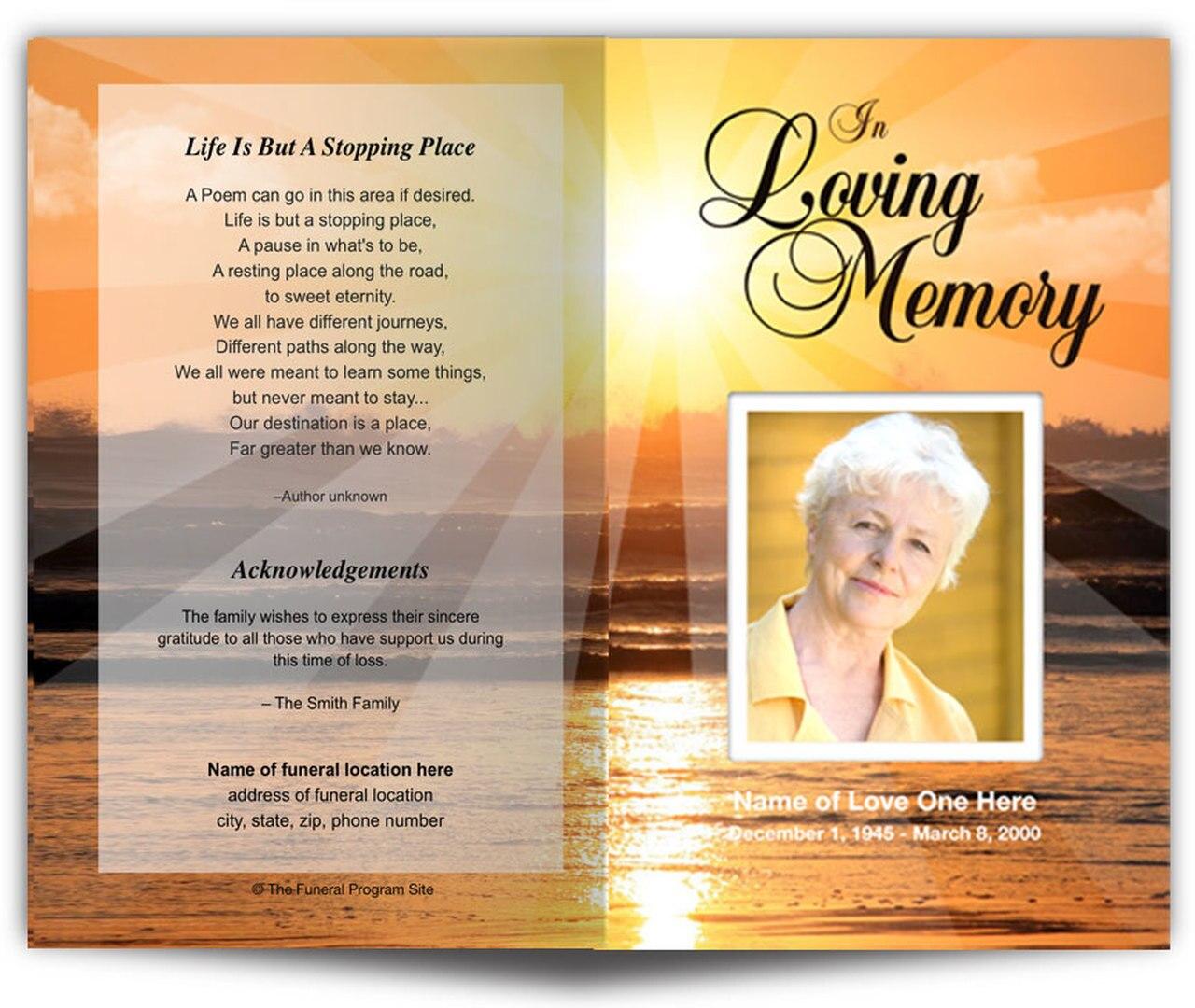 Funeral Program Funeral Letter Template