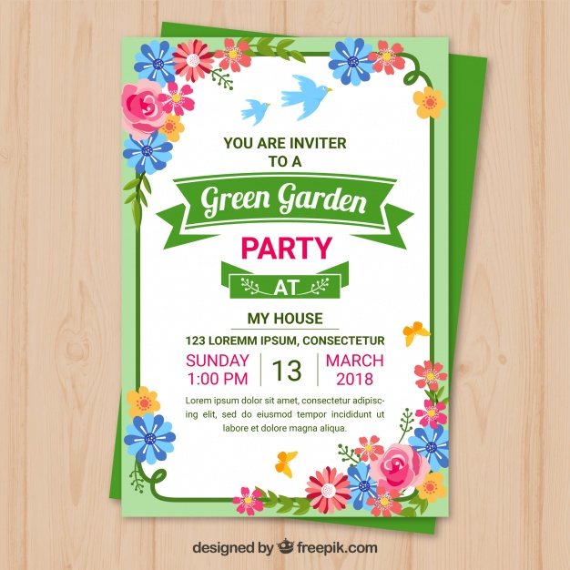 Garden Party Invitation Template