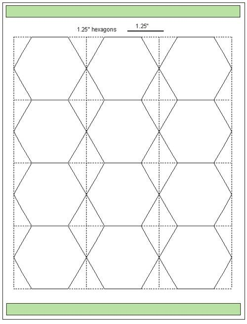 Hexagon Paper Piecing Templates