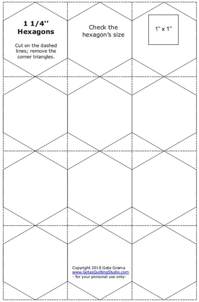 Hexagon Paper Templates