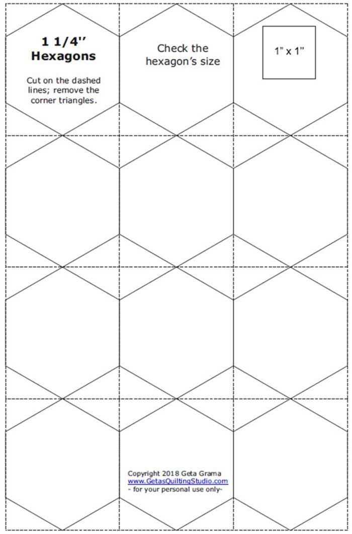 Hexagon Paper Templates