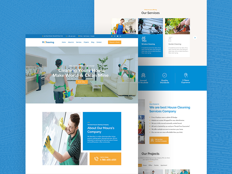 House Cleaning Website Templates Free