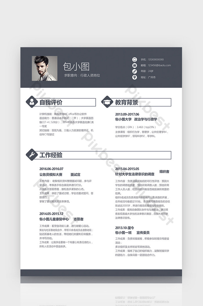 Human Resource Resume Template Free