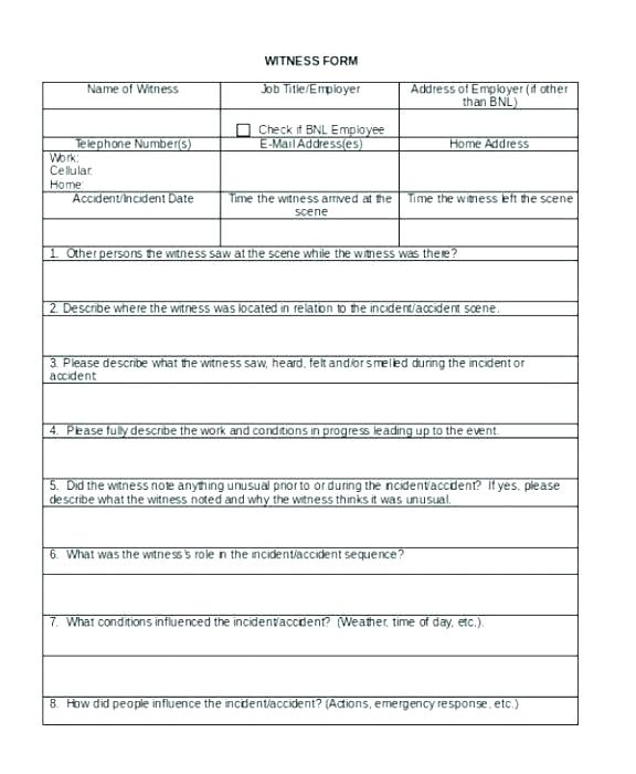 Incident Hr Investigation Report Template