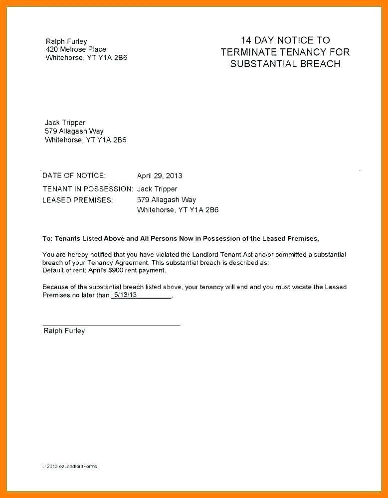 Landlord Lease Termination Agreement Template
