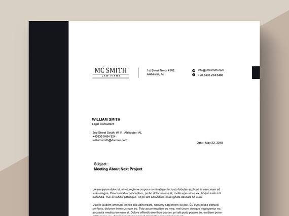 Legal Firm Letterhead Template