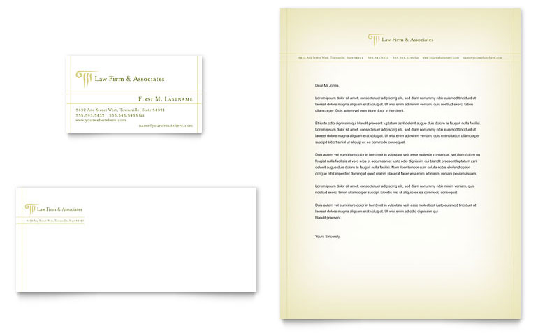 Legal Letterhead Template Word