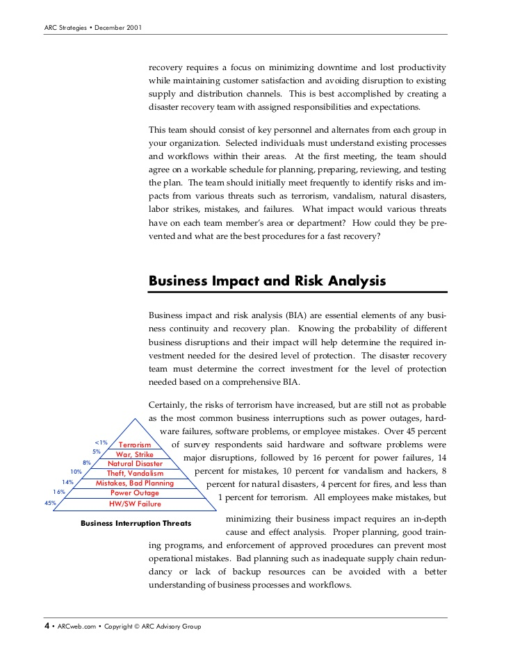 Manufacturing Disaster Recovery Plan Template