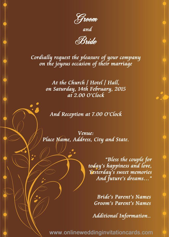 Marriage Invitation Templates Hindu