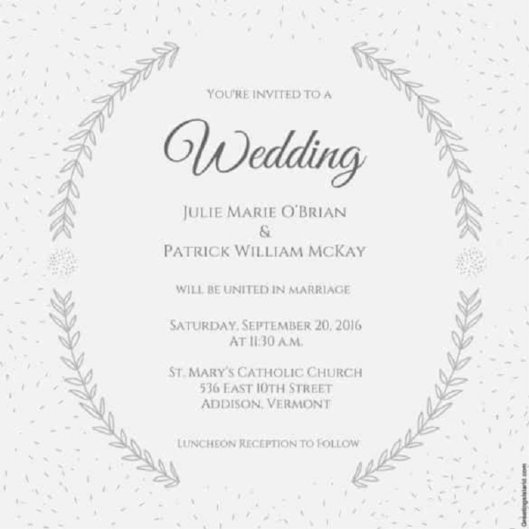 Marriage Invitation Templates In English