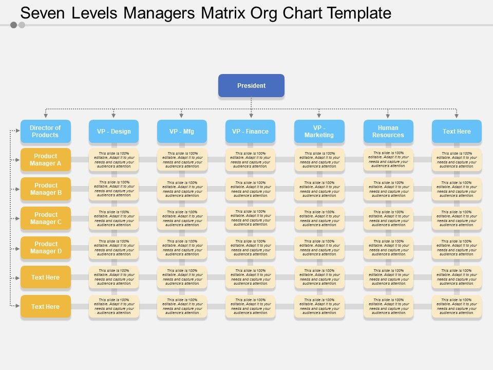 Matrix Org Chart Template Powerpoint