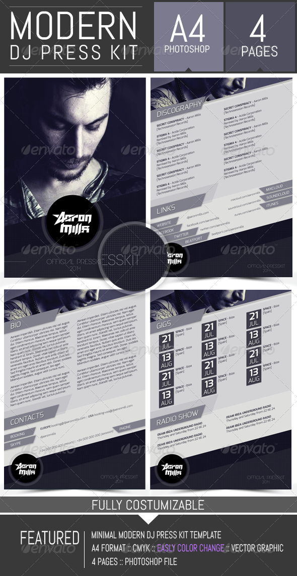 Musician Press Kit Template