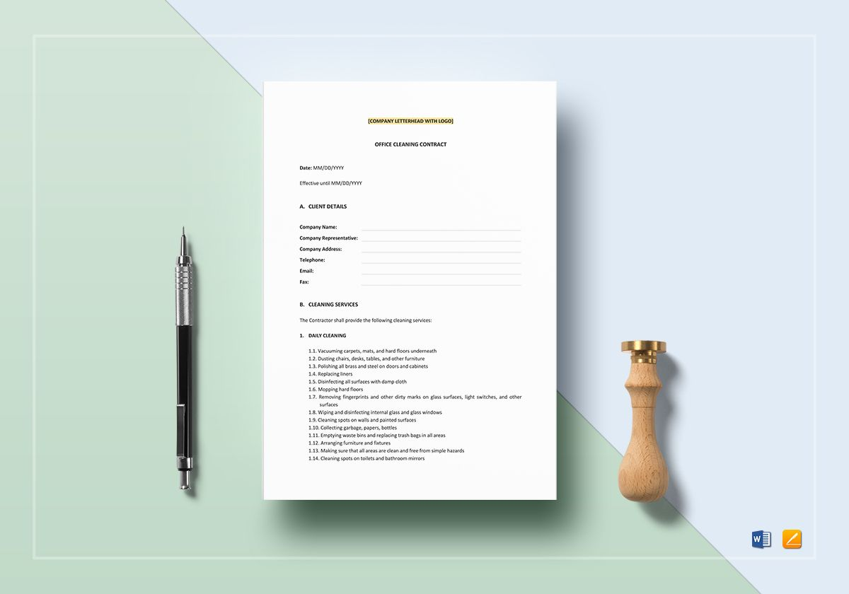 Office Cleaning Contract Template