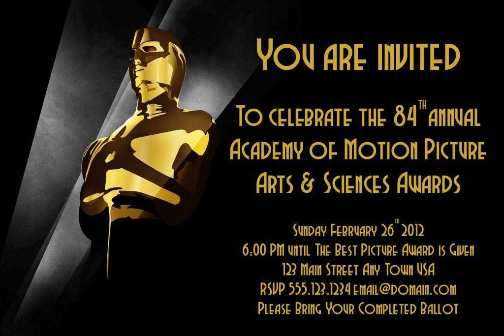 Oscar Awards Invitation Template