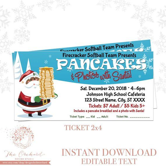 Pancake Breakfast Ticket Template