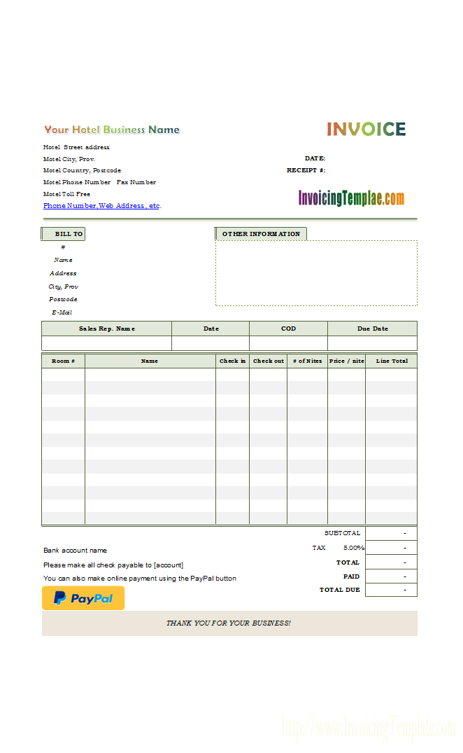 Payment Invoice Bill Invoice Template