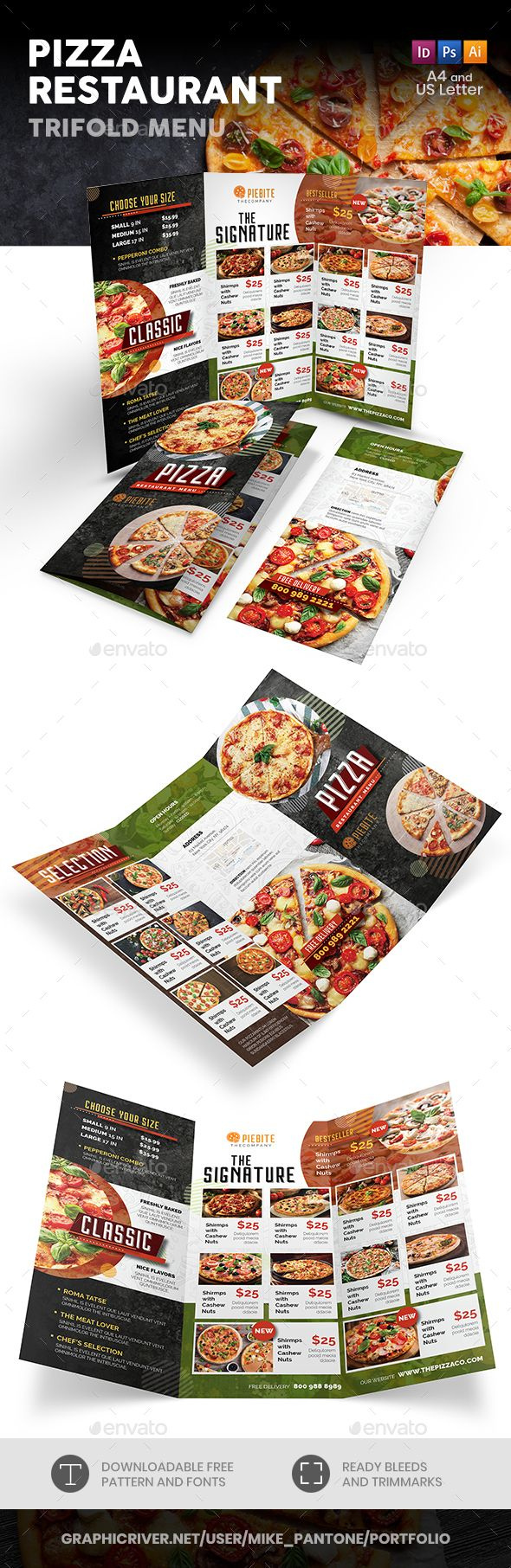 Pizza Restaurant Menu Templates