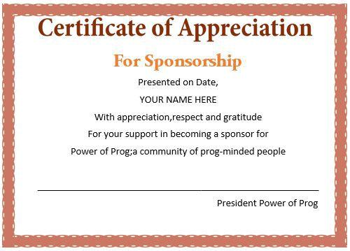 Certificate Of Appreciation For Donation Template Best Of Sponsorship Appreciation Certificate I Pinimg Originals 41 71 0d