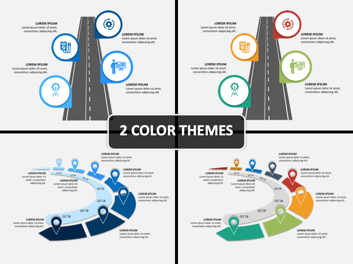 Powerpoint Ppt Roadmap Template