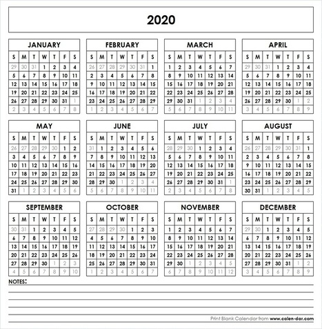 Pr Calendar Template 2020