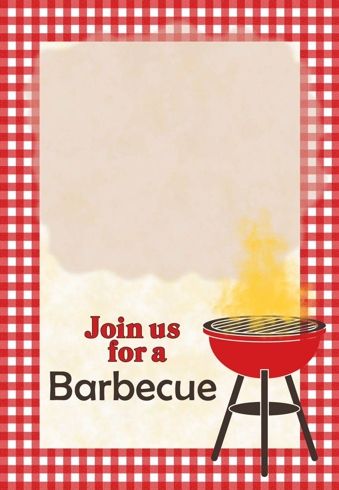 Printable Barbecue Invitation Template