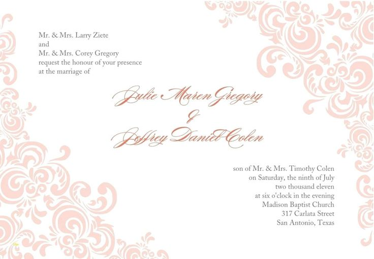 Printable Blank Wedding Invitation Templates Free Download