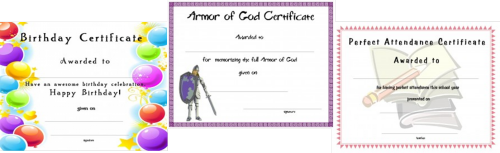 Printable Church Certificate Templates