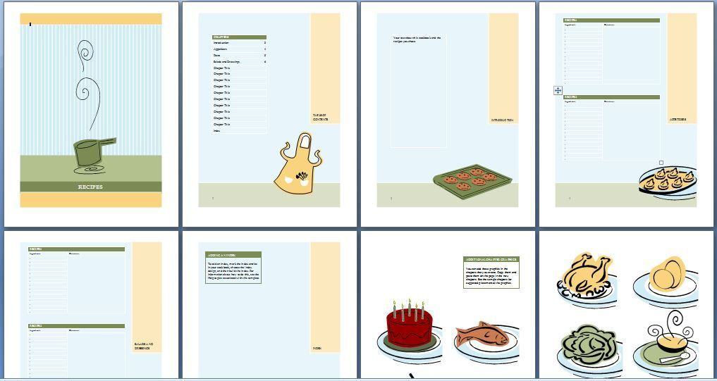 Printable Cookbook Template