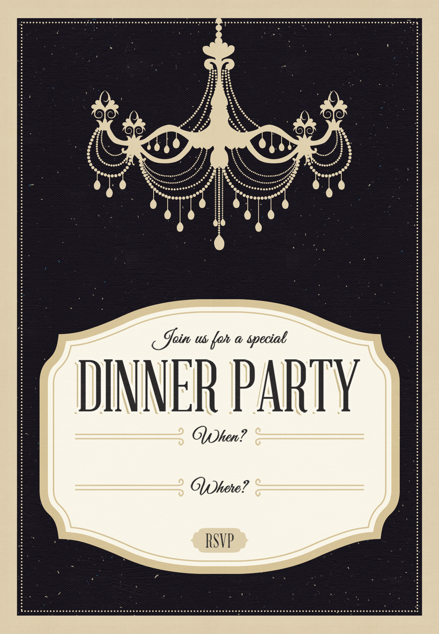 Printable Free Dinner Invitation Template