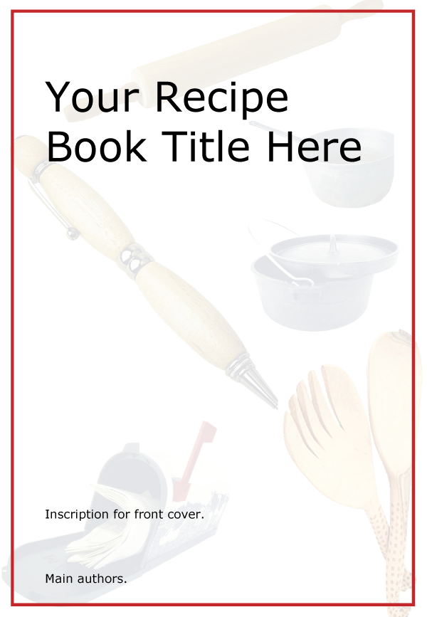 Printable Kids Cookbook Template