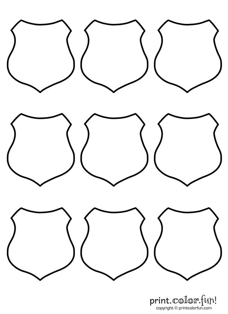 Printable Police Badge Template