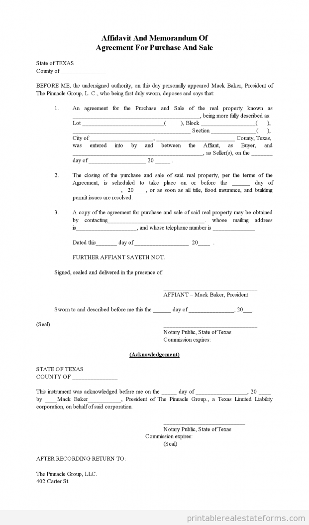 Printable Separation Agreement Template Free