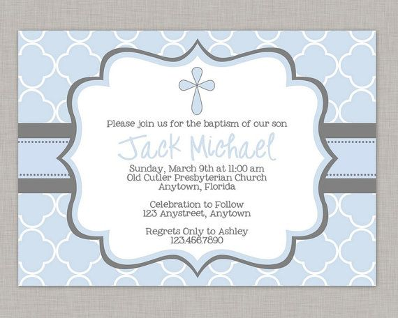 Printable Templates Free Printable Printable Baptism Invitation Boy