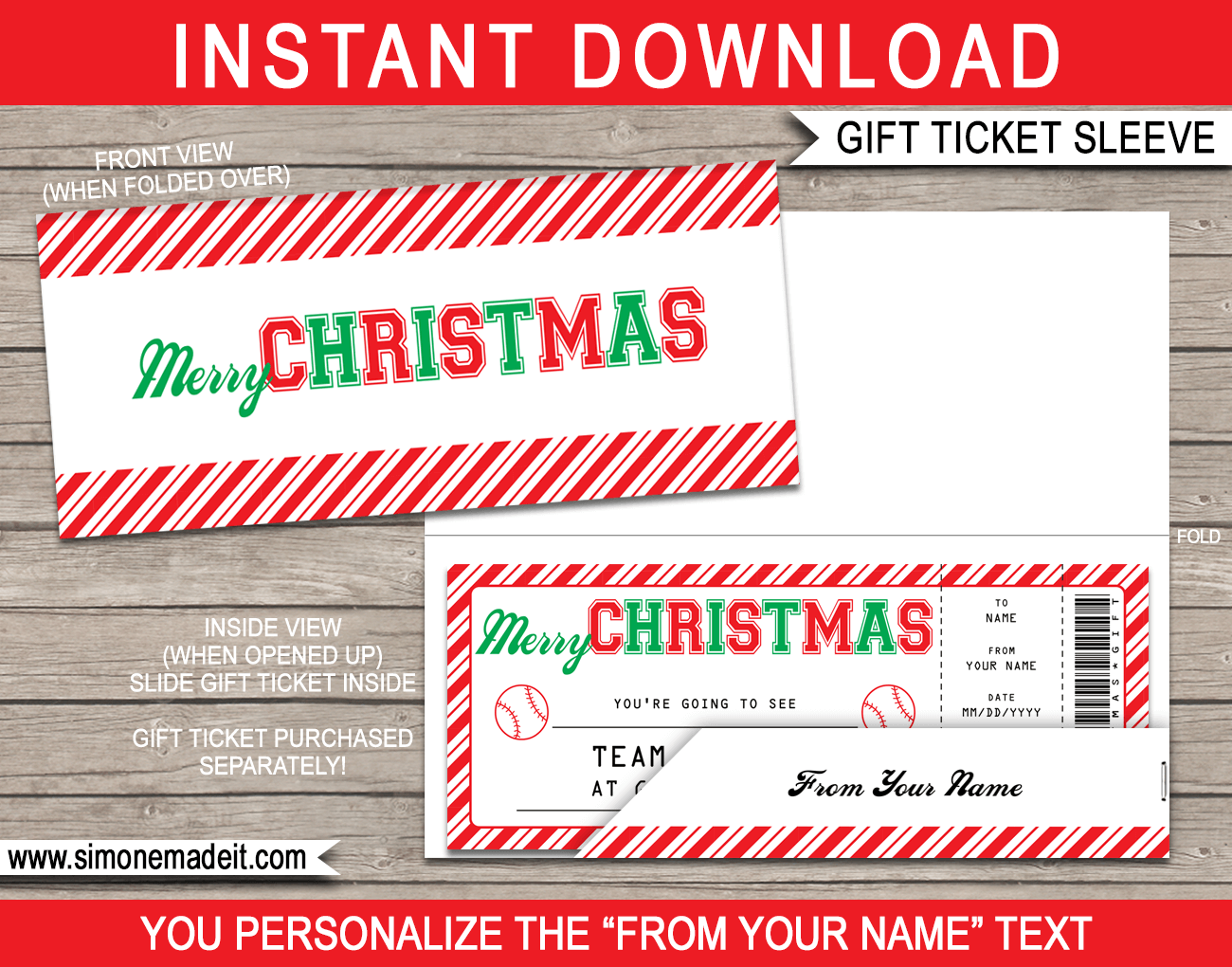 Printable Ticket Envelope Template