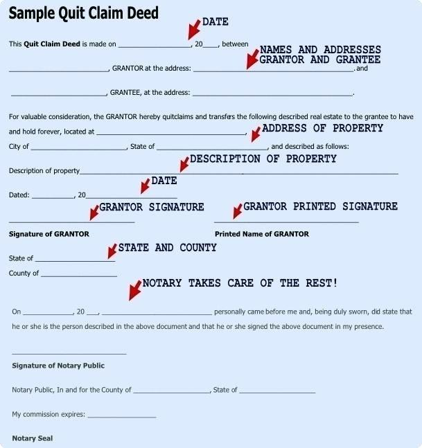 Property Quit Claim Template