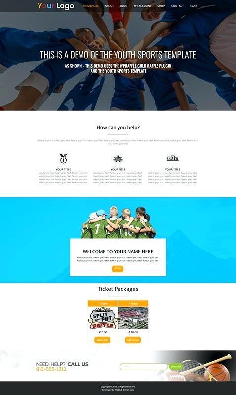 Raffle Website Template