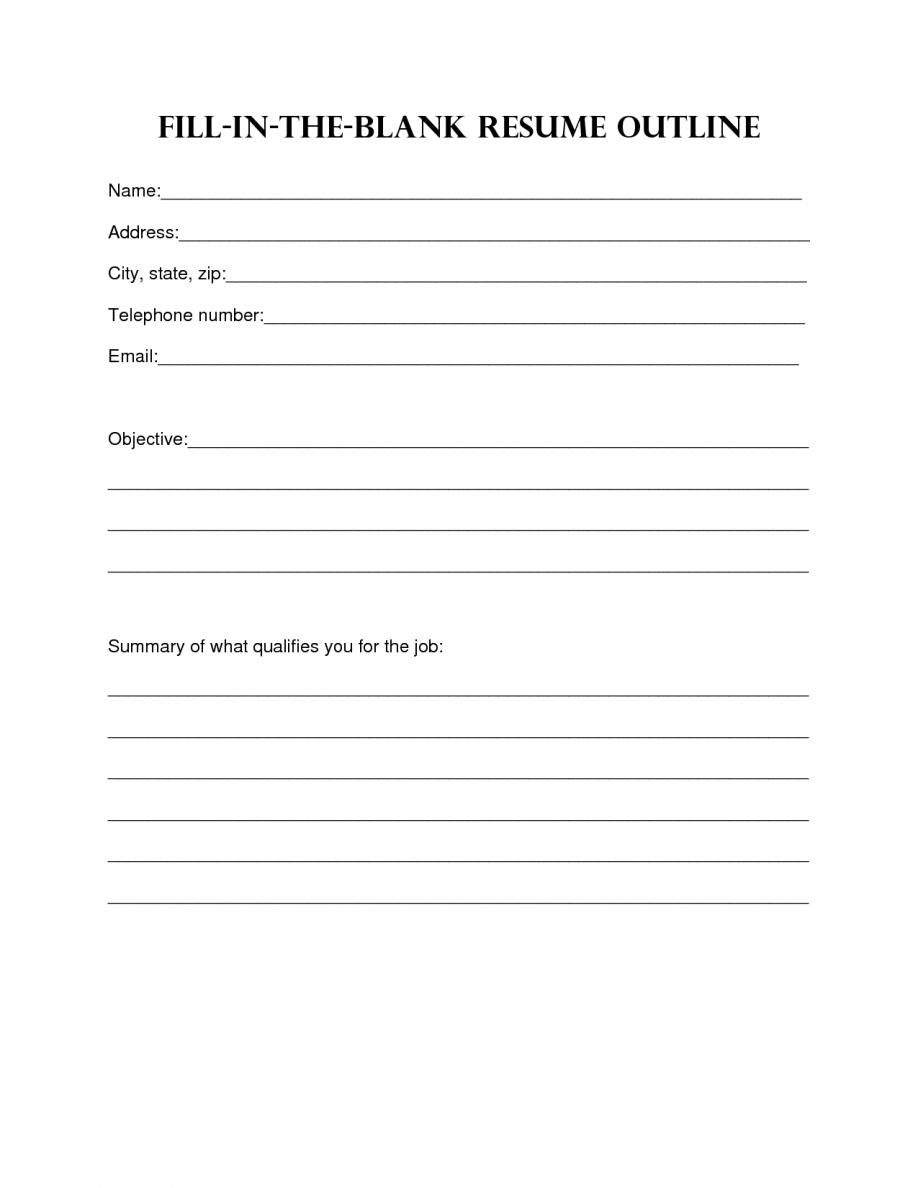 Resume Template Blank