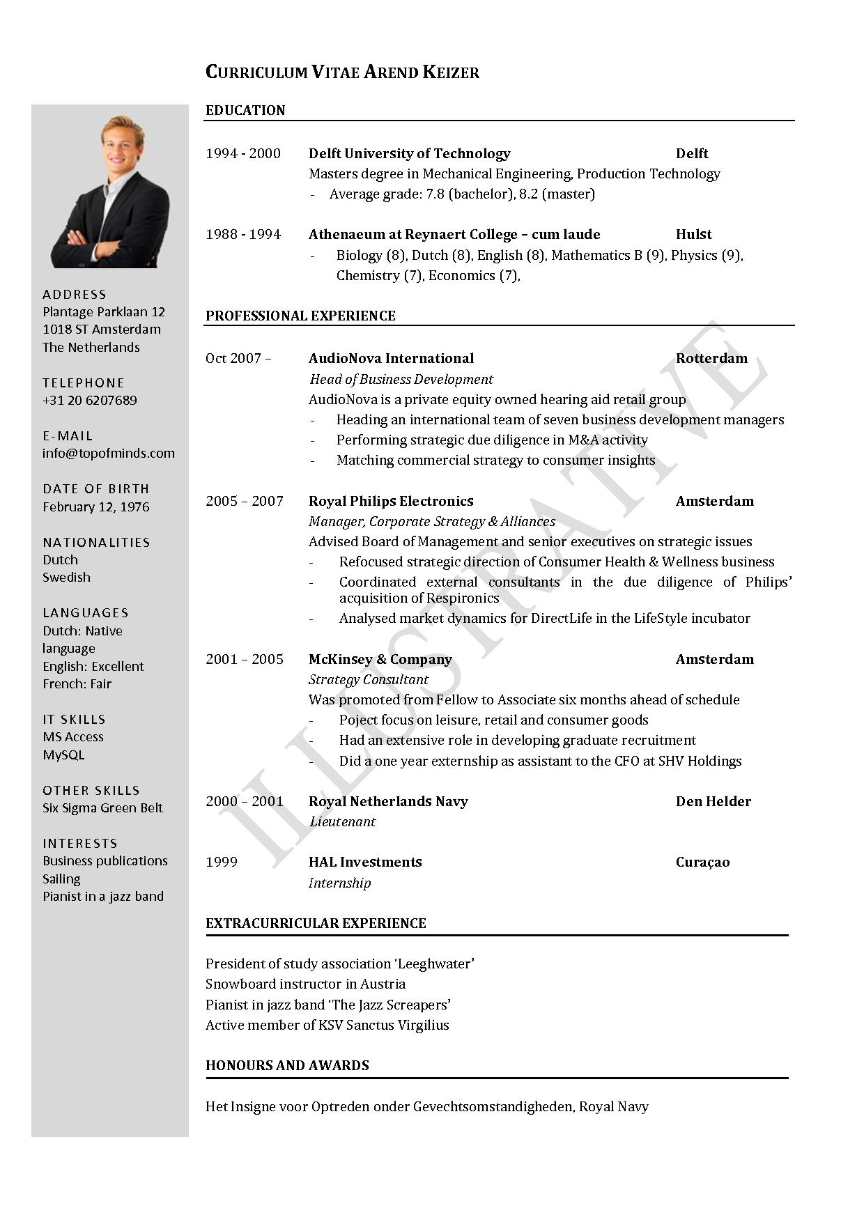 Resume Templates Curriculum Vitae