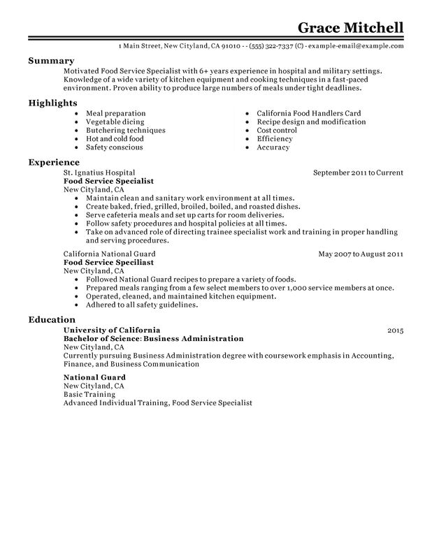 Resume Templates For Customer Service Representative