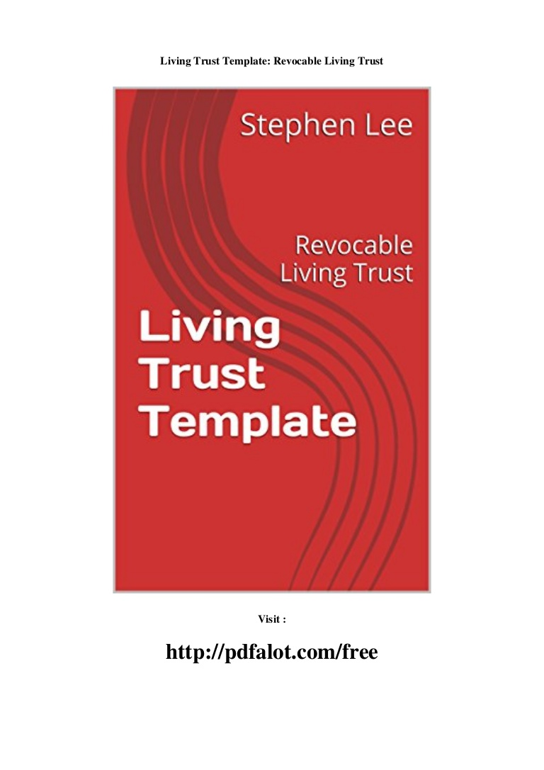 Revocable Living Trust Template