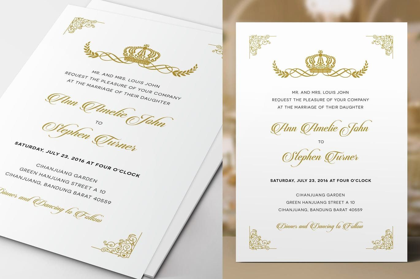 Royal Wedding Invitation Template